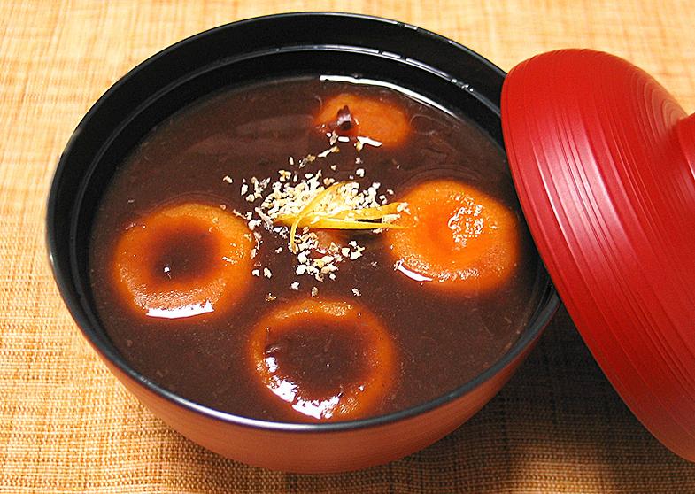 南瓜(かぼちゃ)団子入り汁粉