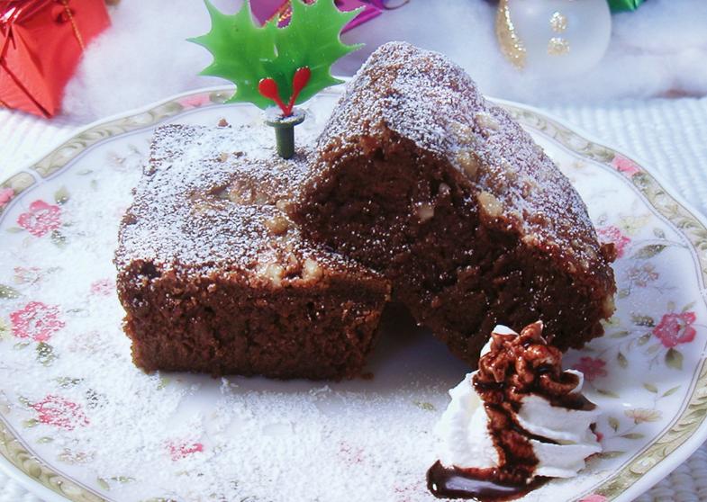 蒸しチョコケーキ