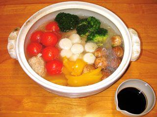 白玉団子のモダン鍋