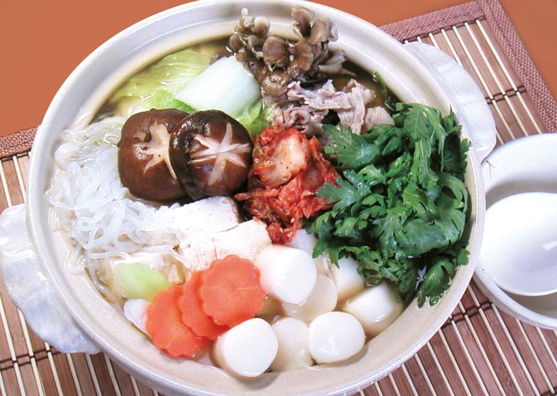 白玉入り豚キムチ鍋
