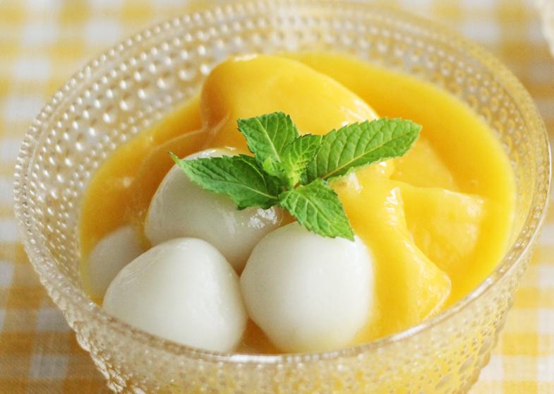 マンゴー白玉汁粉