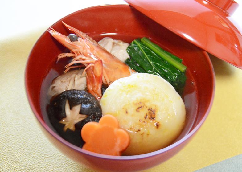 焼柚子餅の雑煮