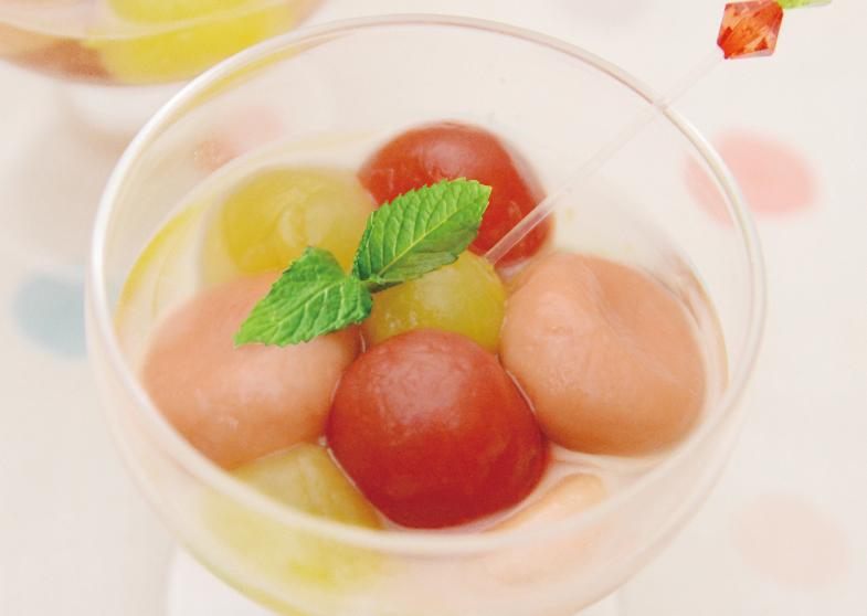 トマト白玉とプチトマトのコンポート
