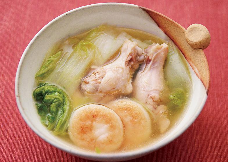 鶏と大根餅のスープ